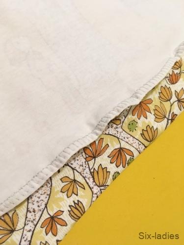 Overlockový steh - začištění spodního lemu