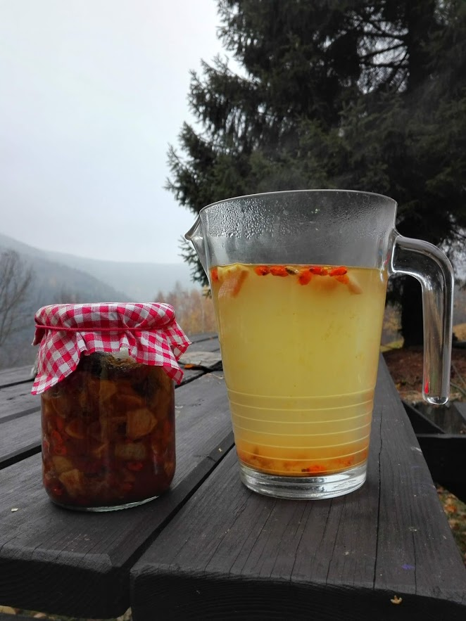 Pečený čaj s rakytníkem