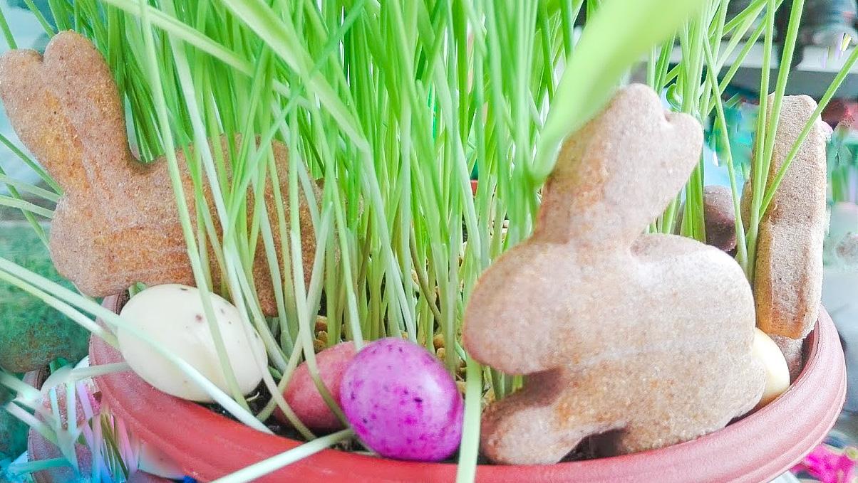 Velikonoční perníčky ze špaldové mouky bez cukru